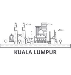kuala lumpur malaysia architecture line skyline vector image