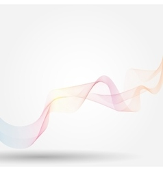 Light waves background vector image vector image