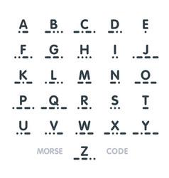 morse code alphabet vector image vector image