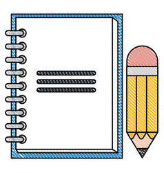 note book with pencil vector image vector image
