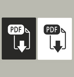 Pdf - icon vector