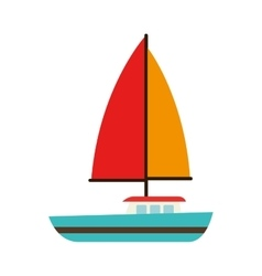 sailing vessel sea isolated design vector image