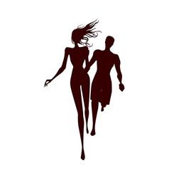 Shadows of Couple vector image