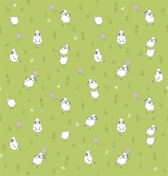 Sheep on the meadow vector