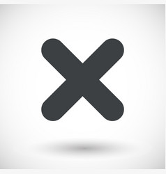 single close mark flat icon vector image vector image
