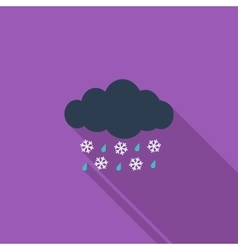 Sleet icon vector image vector image