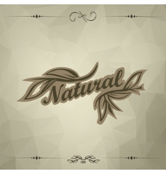 Vintage triangular dark background vector