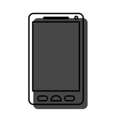 watercolor silhouette of smartphone icon vector image