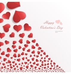White background with hearts vector image vector image