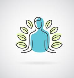 Yoga design logo vector image vector image