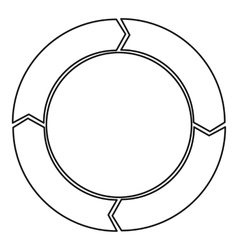 Cycle circle diagram icon outline style vector image