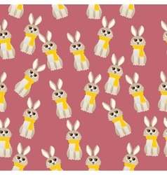 Cute rabbit with scarf vector