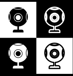 Chat web camera sign  black and white vector