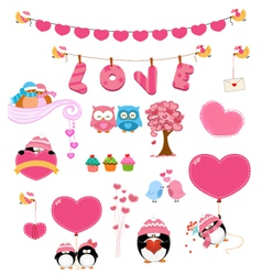 Love Set vector image