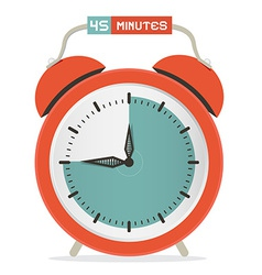 Forty five minutes stop watch - alarm clock vector