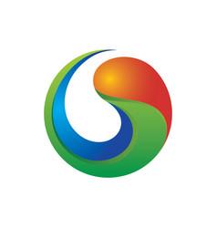 3d swirl colerful logo image vector image vector image