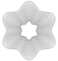 Guilloche pattern rosette vector