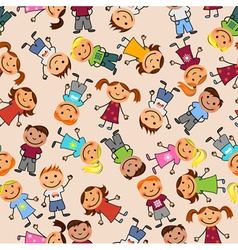 boys and girls seamless pattern vector image