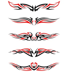 Setof tribal tattoos vector