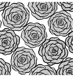 Seamless background with lace roses vector