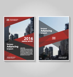 Red black annual report leaflet brochure flyer vector