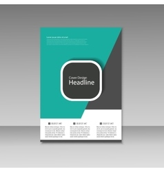 Brochure design layout template vector