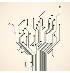 Abstract circuit tree vector image