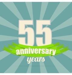 Anniversary emblem vector image vector image