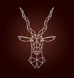 antelope in geometric style vector image vector image
