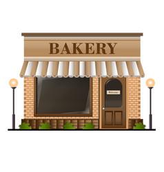 bakery facade vector image vector image