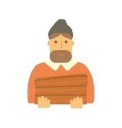 Bearded man lumberjack vector image vector image