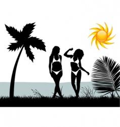 bikini woman vector image vector image