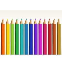 Colorful long pencils vector image