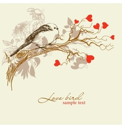 Cute love bird vector image