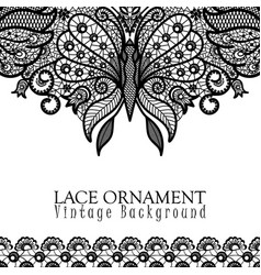 decorative background with lace design vector image