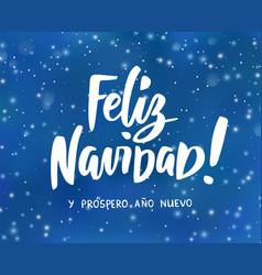 Feliz navidad y prospero ano nuevo - spanish merry vector
