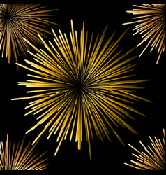 fireworks on a black background seamless vector image