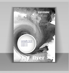 flyer with abstract ink blot vector image