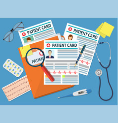 Folder with patient card vector