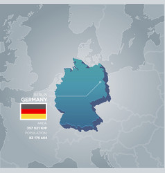 germany information map vector image vector image