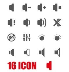 grey speaker icon set vector image