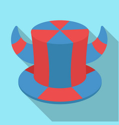 Hat of a fan with hornsfans single icon in flat vector