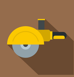 High speed cut off machine icon flat style vector