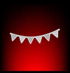 Holiday flags garlands vector