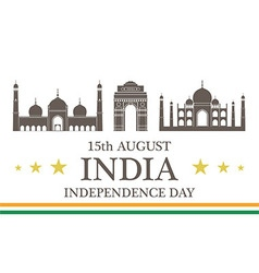 Independence Day India vector image