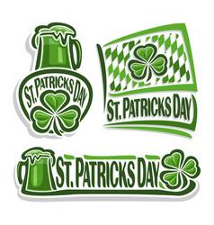 Logo for st patricks day vector