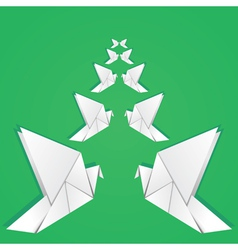 Origami pigeons2 vector image vector image
