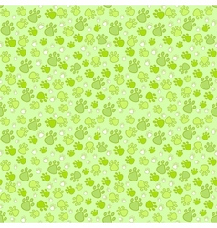 Pet paw imprint seamless pattern vector image vector image