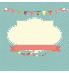 Retro vintage background with frame template vector