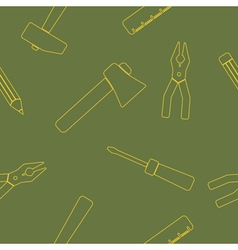 seamless background with hand tools vector image